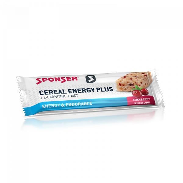 Cereal Energy PLUS Cranberry Sponser Food
